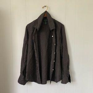 Lauren Ralph Lauren 100% Silk Button Down Blouse